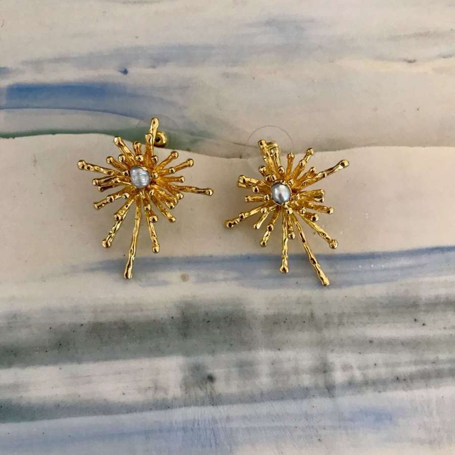 Pearl firework earrings